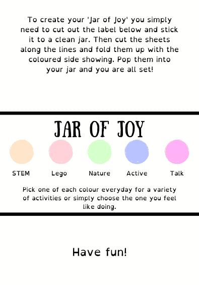 kids activity categories