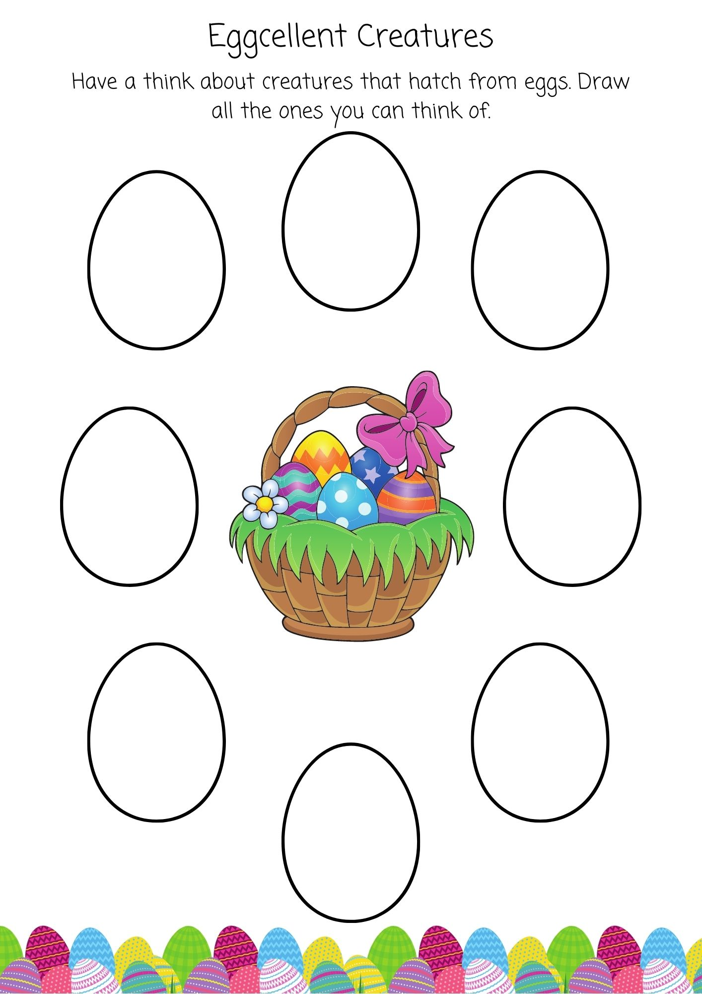 Easter preschool egg activities